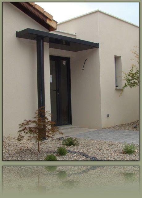 Auvent porte du0027entrée v2 ikce design entrée Pinterest Roof