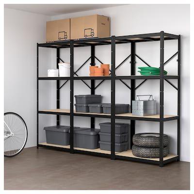 Flysta Shelf Unit White 27 1 8x52 Wood Shelving Units Shelves Shelving Unit