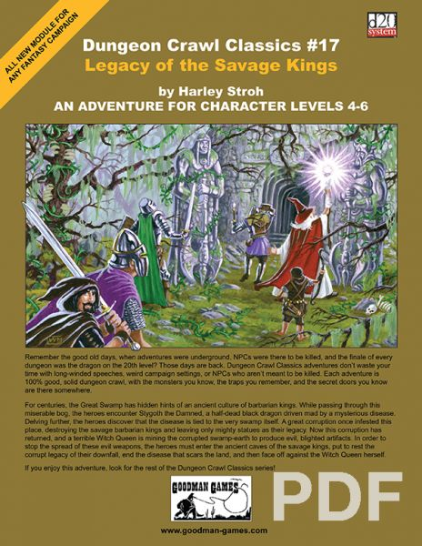 Dungeon Crawl Classics #17: Legacy of the Savage Kings – PDF