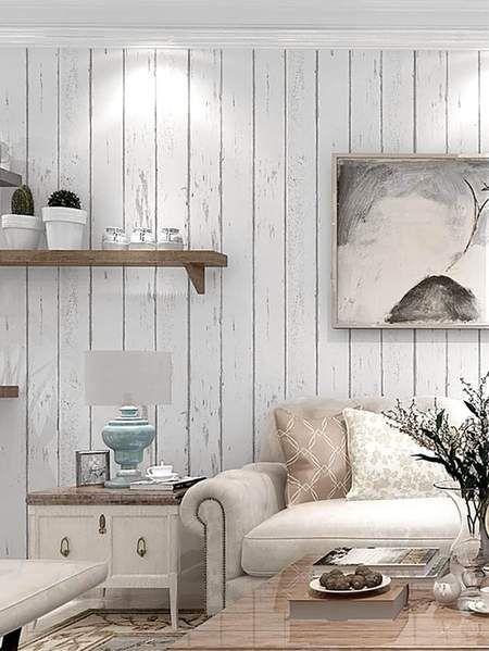 Diy Shiplap Wallpaper Decor Easy Home Decor Home Decor