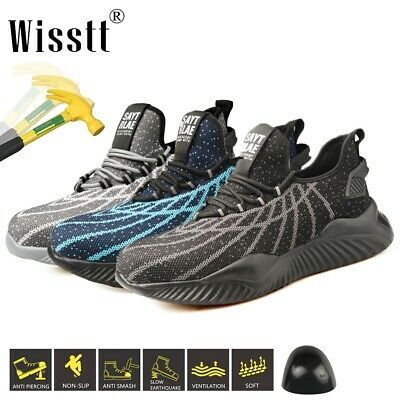 Safety Shoes Mens Womens Lightweight Steel Toe Cap Work Shoes Trainers Boots New In 2020 Trainer Boots Steel Toe Work Boots Work Shoes