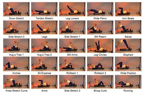 printable pilates chart  bayou fitness total trainer