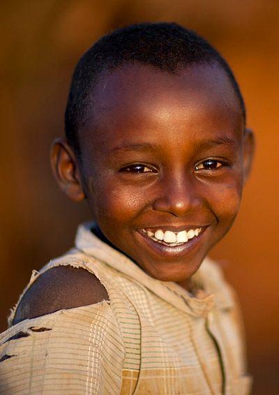 Smiling Borana tribe boy - Ethiopia by Eric Lafforgue
