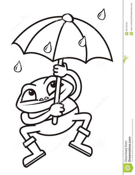 Coloriage Grenouille Avec Parapluie.Resultat De Recherche D Images Pour Grenouille Parapluie
