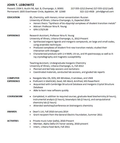 Entry Level Chemist Resume Sample - http\/\/resumesdesign\/entry - coastal engineer sample resume
