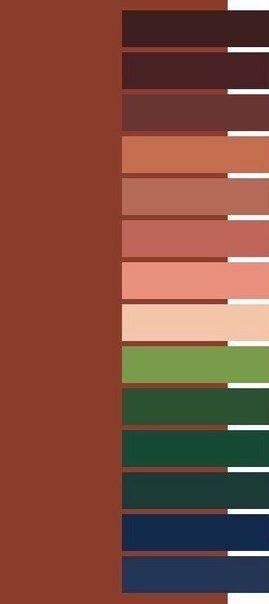 6 shpargalok s sochetaniyami dlya teplyh ottenkov ohry fall color palette deep autumn color palette color balance deep autumn color palette