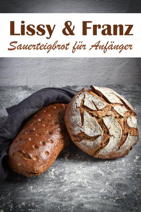 Sauerteigbrot zu backen ist gar nicht schwer, hier eine Anleitung für Anfänger für diese beiden Brote mit Roggenmehl und Weizenmehl, Thermomix