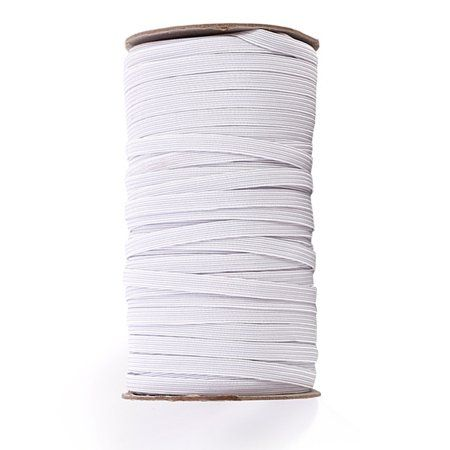 70 Yards Length 1 4 Inch Width Braided Elastic Band White Elastic Cord Heavy Stretch High Elasticity Knit Elastic Band For Sewing Crafts Diy Mask Bedspread C In 2020 Elastic Rope Sewing Crafts Diy Sewing