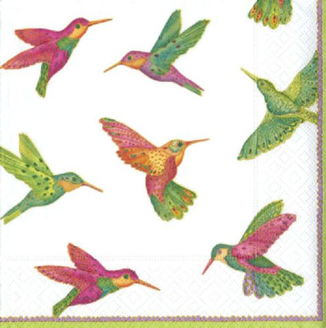Tropical Hummingbird 4 x Paper Napkins Ideal for Decoupage Napkin Art