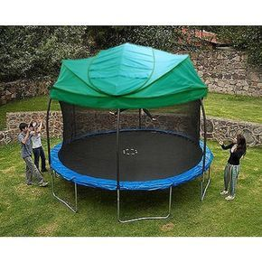 New Universal Green Trampoline Canopy Roof For All Major Brands Backyardtrampolinegardens Backyard Trampoline Trampoline Tent Backyard