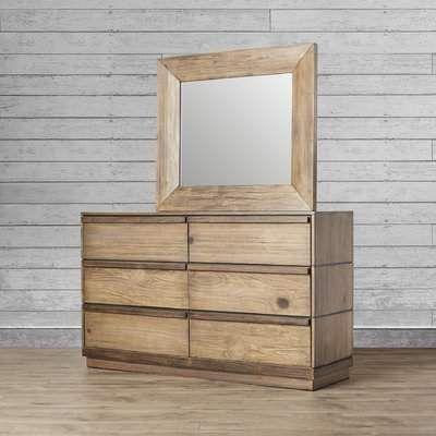 Loon Peak Elliston 6 Drawer Double Dresser With Mirror Dresser With Mirror Double Dresser Dresser