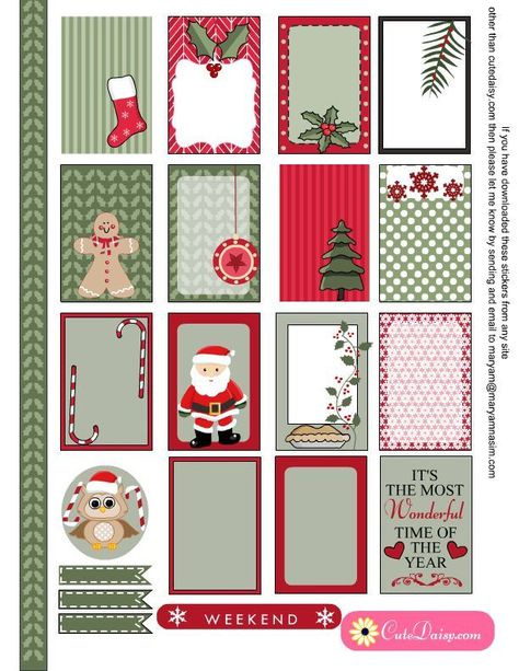 Free Printable Christmas Stickers For Erin Condren And The Happy