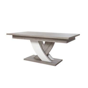 Table De Repas A Allonge Megeve L 225 X L 100 X H 75 Neuf Pas Cher C Est Sur Confor Table A Manger Moderne Table A Manger Table Basse Blanc