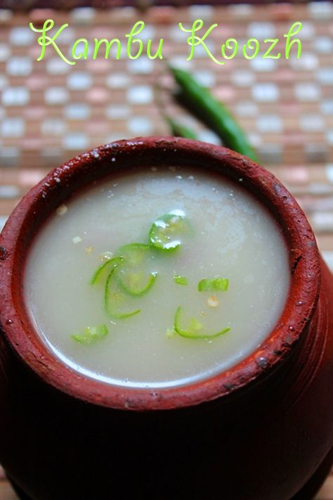 YUMMY TUMMY: Kambu Koozh Recipe / Pearl Millet Porridge Recipe / Bajra Kool Recipe