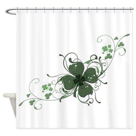Elegant Shamrock Shower Curtain On Cafepress Com With Images