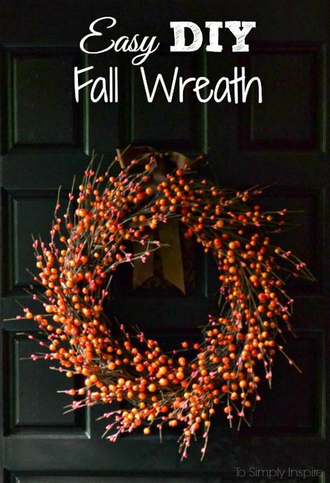 Easy DIY Fall Wreath - Make this beautiful wreath in 15 minutes