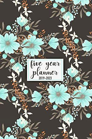 Hand Lettering book U.S Notes and Phone book 2019-2020: Two-Year Monthly Pocket Planner: 24-Month Calendar Size : 4.0 x 6.5 Holidays Flower Cover