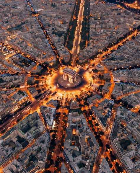 """An artist has no home in Europe except in Paris."" - Friedrich Nietzsche With this picture in mind, it's pretty obvious to see why Paris is often referred to as La Ville-Lumière Paris Photography, Drone Photography, Travel Photography, Paris At Night, City Aesthetic, Travel Aesthetic, Paris France, France Europe, France Travel"