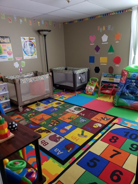daycareinhome preschoolers decorating toddlers infants daycare inhome change ideas good your kids room for and DaycareInhome Ideas Change is good Inhome ideas for your daycare Daycare for infants toddlersYou can find Home daycare and more on our website Daycare Room Design, Home Daycare Rooms, Toddler Daycare Rooms, Daycare Nursery, Daycare Setup, Daycare Spaces, Childcare Rooms, Daycare Organization, Preschool Rooms