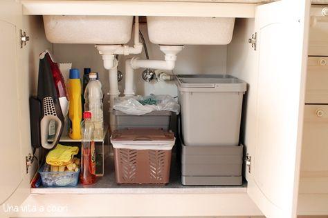 Come organizzare il sotto lavello della cucina   Lavelli ...