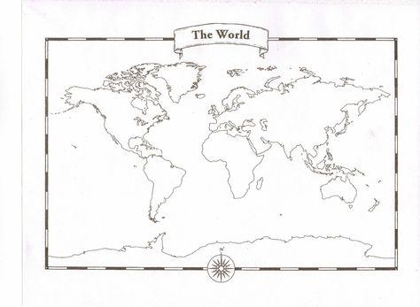 Amazon blank world map pad tattoos pinterest wall maps amazon blank world map pad gumiabroncs Image collections