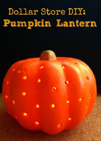 How to Make a Pumpkin Lantern: A Dollar Store DIY Project. Use this tutorial to make a pumpkin lantern for Halloween using a foam pumpkin & twinkle lights.