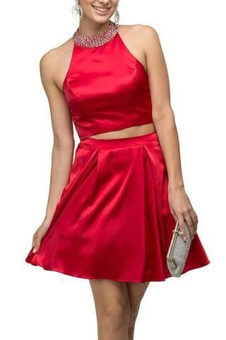 8dfc5b6265bd 2 piece prom dresses & Long sleeve homecoming dress | Homecoming ...