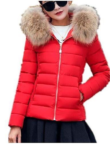 OTW-Women Plus Size Winter Hooded Wool Blend Pea Coat Jacket Outwear