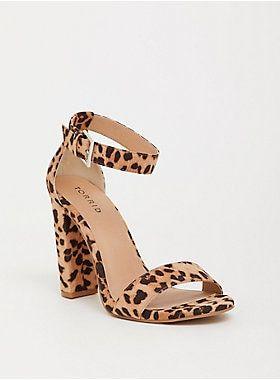 e1f412118ad Leopard Ankle Strap Block Heel Sandal (Wide Width) in 2019   • C ...
