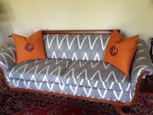 Duncan Phyfe Sofa Reupholster Project