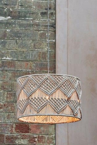 Buy Macrame Easy Fit Shade From The Next Uk Online Shop Ceiling Lamp Shades Ceiling Lights Hanging Lights