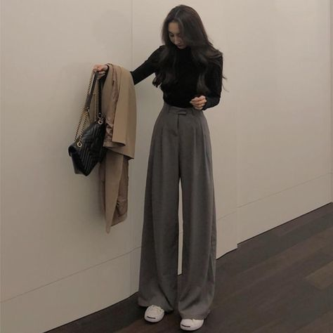 MEGAN Trousers - Gray / M