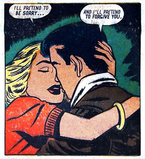 "Comic Girls Say.. "" I ll pretend to be sorry.."" #comic #vintage"