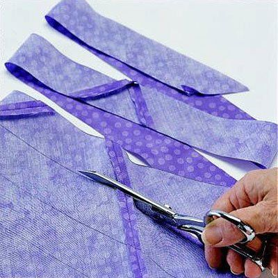 If you're binding around curved edges, you'll want to cut your ... : cutting bias strips for quilt binding - Adamdwight.com