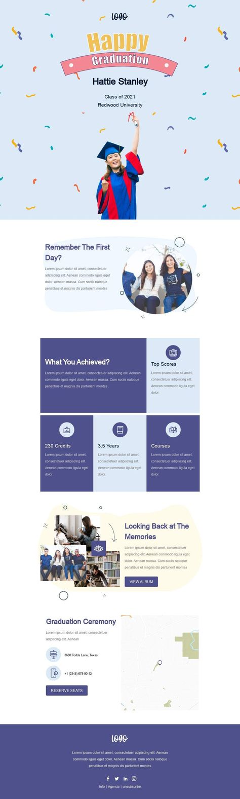 Graduation Ceremony - Email Template