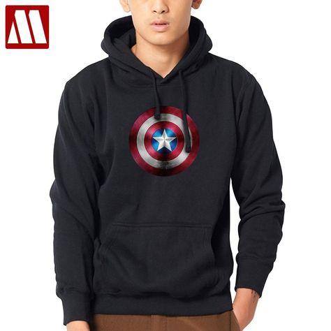 ba9932447c1a Big size The Avengers Iron Man Hulk Captain America Hoodies 3D Logo Winter  Fleece thick Mens Sweatshirts Fashion Male Hoody Coat