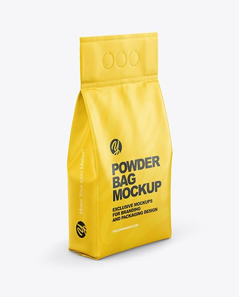 Download Matte Powder Bag Mockup In Bag Sack Mockups On Yellow Images Object Mockups In 2021 Bag Mockup Mockup Matte Powder