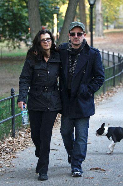 Bono and his wife Ali stroll Central Park