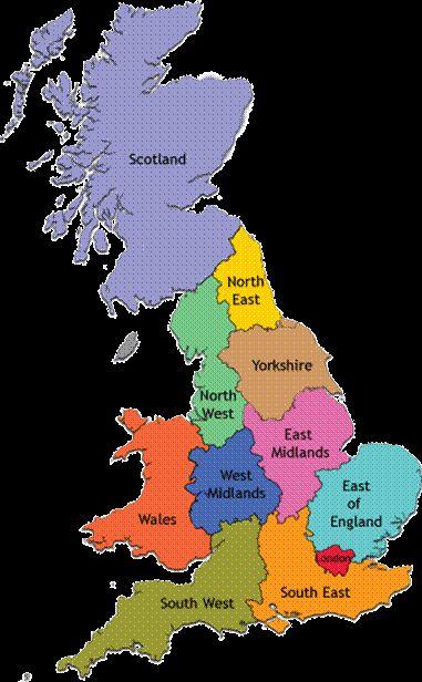 Kaart Gebieden Zuid Engeland Google Zoeken Engeland Schotland