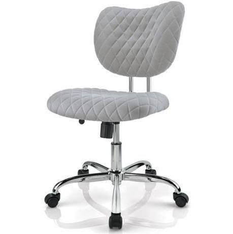 Brenton Studio Jancy Quilted Fabric Low Back Task Chair Gray Chair Task Chair Grey Desk Chair