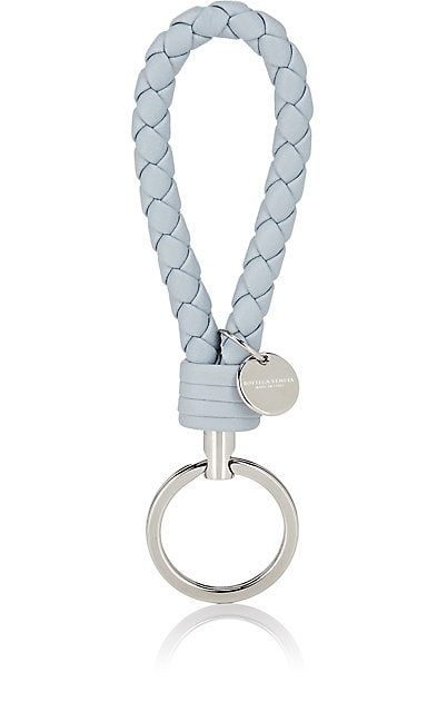 Bottega Veneta Intrecciato Key Chain 220 Bottega Veneta S Light Blue Leather Loop Key Chain F Sterling Silver Engagement Rings Keychain Leather Keychain