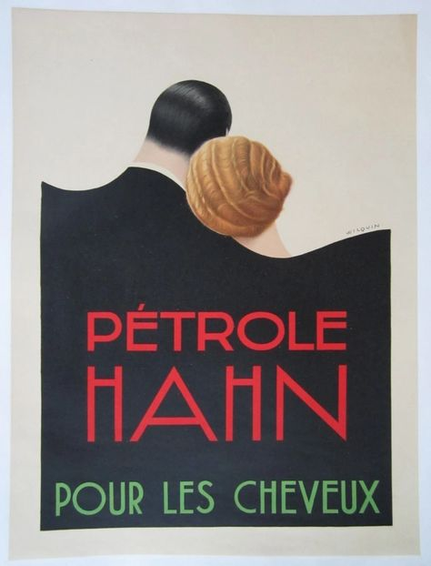 Petrole Hahn poster by André Wilquin 1930