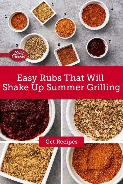 Make these Easy Spice Rubs That Will Shake Up Summer Grilling with seasoning mixes you may already have. Pin today for your next cookout.