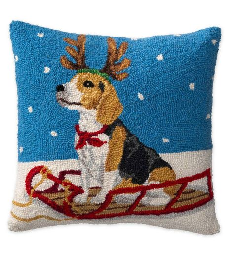 62 Christmas Ideas Christmas Hooked Wool Hooked Pillow
