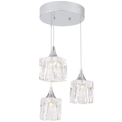 Home Decorators Collection 3 Light Polished Chrome Integrated Led