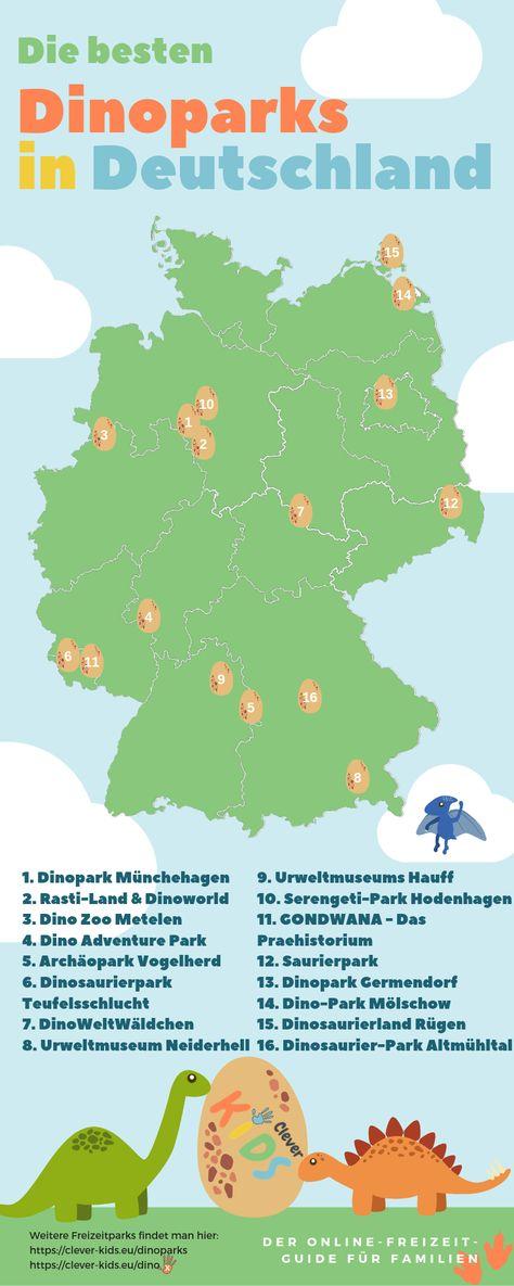 Die Besten Dinoparks Und Saurierausstellungen Dinosaurier Park Freizeitpark Deutschland Deutschland