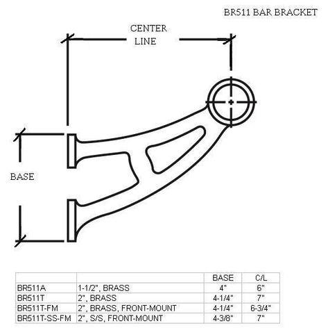 Foot Rail Bar Bracket 2 0 Bracket Bar Black Finish