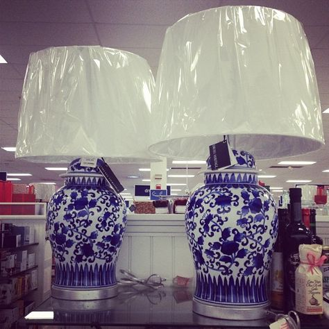 Incredible Blue And White Chinoiserie Lamps