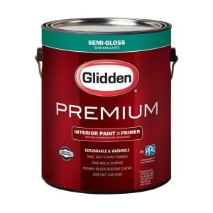 Glidden Premium 1 Gal Base 1 Semi Gloss Interior Paint Gln6411n 01 The Home Depot Glidden Premium Best Paint Brand Interior Paint