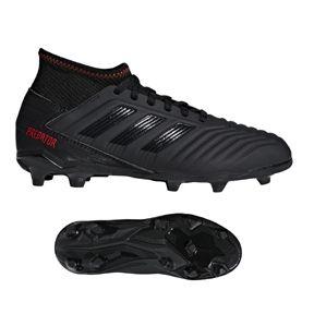 Adidas Youth Predator 19 3 Fg Soccer Shoes Black Active Red Soccer Shoes Black Shoes Adidas Predator